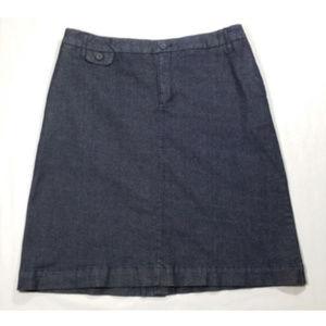 MERONA Straight Skirt Denim Jean Stretch 1984E1